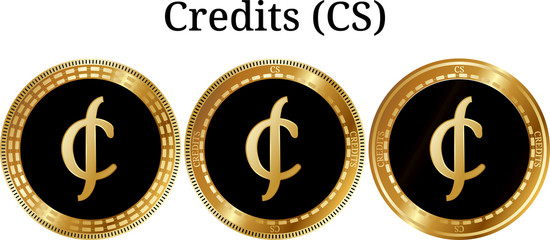 Set of physical golden coin Credits (CS)