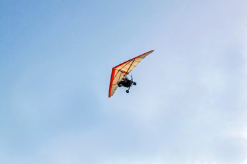 Ultralight Aircraft on an afternoon flight