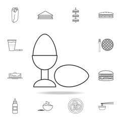 Easter egg in stand icon. Detailed set of fast food icons. Premium quality graphic design. One of the collection icons for websites, web design, mobile app