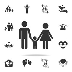Family Icon in trendy flat style isolated. Detailed set of family icons. Premium quality graphic design. One of the collection icons for websites, web design, mobile appfamily