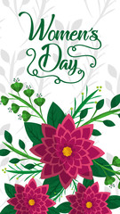 flowers banner happy womens day vector illustration