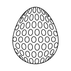 uncolored  easter egg  with  dot  over white bacground  vector illustration