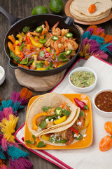 Two Shrimp Fajitas