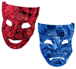 Crystal Masks Red and Blue
