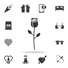 rose icon. Love or couple element icon. Detailed set of signs and elements of love icons. Premium quality graphic design. One of the collection icons for websites