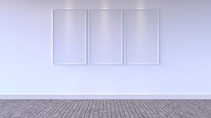 Mock up poster, Empty Room, 3d render 3d illustration