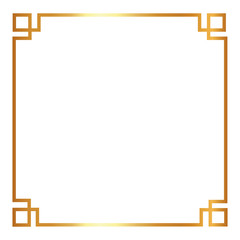 decorative  design in gold frame with  square shape   vector illustration  vector illustration