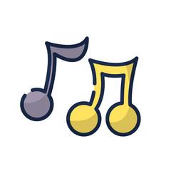 music notes tone with sound rhythm