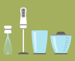 Blender simple icon isolated. Household appliance. Modern blender, chopper, grinder. Flat style Vector illustration