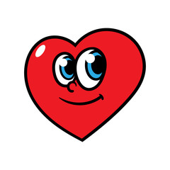 Cartoon Heart Character