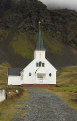 Whalers Church, built in 1813 on Grytviken, a whaling station on South Georgia.