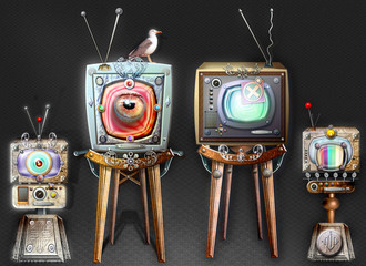 Papiers peints Imagination The big brother, steampunk and strange television