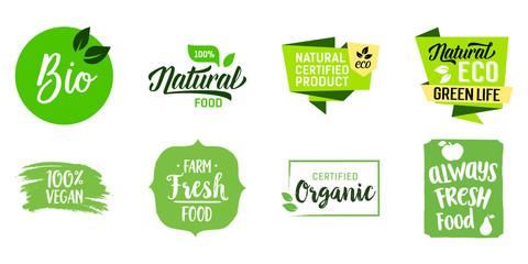Fresh Ecological Food Lettering Set