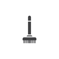 Sweeping broom vector icon. filled flat sign for mobile concept and web design. Besom simple solid icon. Symbol, logo illustration. Pixel perfect vector graphics