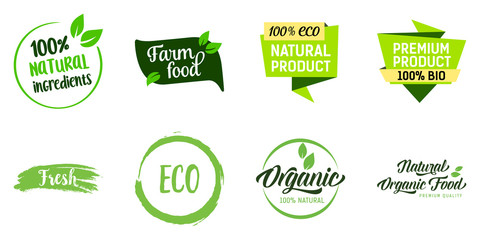 Natural Organic Food Lettering Set