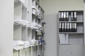The document racks with document and file