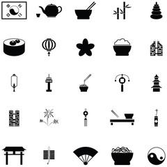 korea icon set
