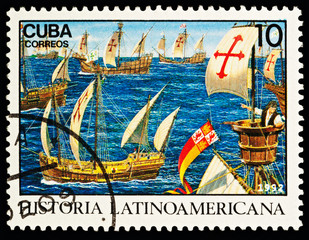 Departure of Christopher Columbus' expedition from Cadiz