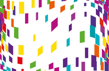 Abstract geometric pattern with multicolored squares, rectangles. Vector illustration