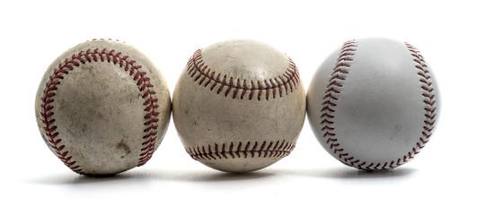 baseball ball on white background.