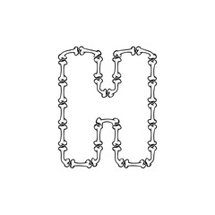 H Bone Letter Logo Icon Design