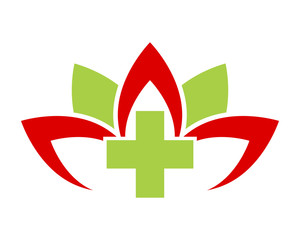 medical lotus flower image icon vector