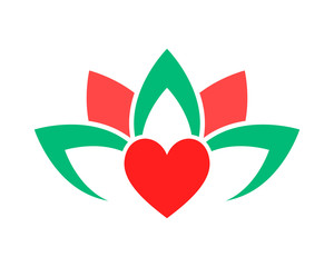 love lotus flower image icon vector