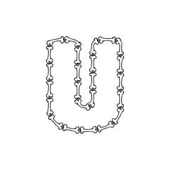 U Bone Letter Logo Icon Design