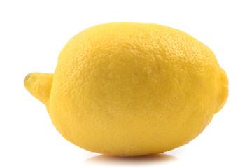 Fresh lemon isolated on white background