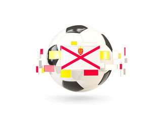 Soccer ball with line of flags. Flag of jersey