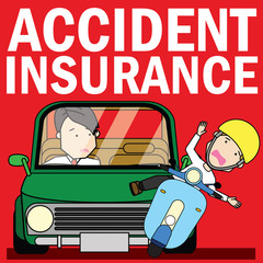 Young businessman Drive with carelessness Finally,
