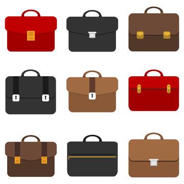 Briefcase, business briefcase. Briefcase of a businessman.
