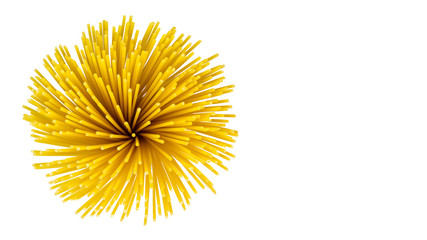vermicelli spaghetti, pasta from durum wheat on isolated background. Concept of healthy food. Copy space, template.