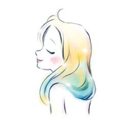 柔らかく美しい女性のイメージ / 輝き