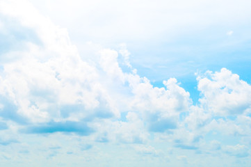 Blue sky and White cloud: clear blue sky with plain white cloud