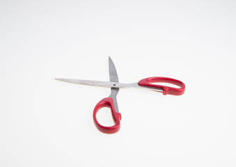 scissors or steel scissors on a background.