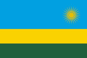 Flag in colors of Rwanda, vector image.