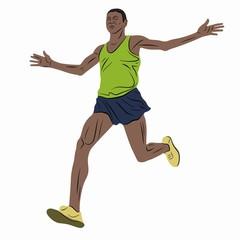 illustration of runner , vector draw