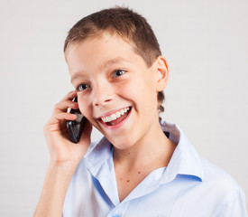 Boy talking phone