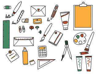Education doodle set.