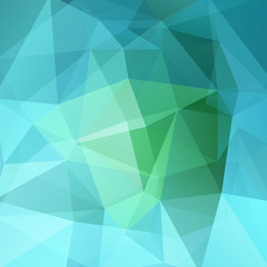 Polygonal vector background. Can be used in cover design, book design, website background. Vector illustration. Green, blue colors.