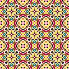 Vector Abstract Seamless Pattern. Vintage Geometric East Ornament Pattern. Boho Style.