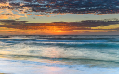 Vivid Sunrise Seascape