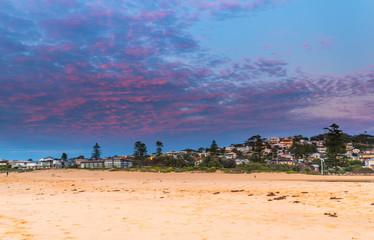 Reverse Sunrise at the Beach
