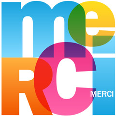 """Icône Vecteur """"MERCI"""""""