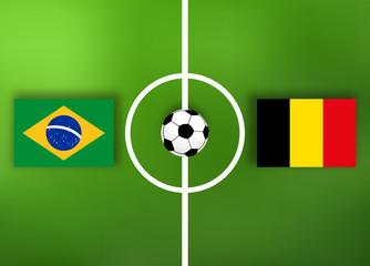 Brasilien VS Belgien - Fußball