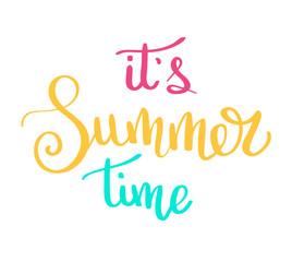 Summer letterings hand drawn brush multicolor letterings. Summer typography - hello summer. Handwritten inscription vector