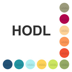 Farbige Buttons - HODL