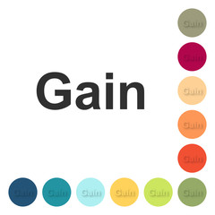 Farbige Buttons - Gain