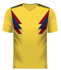 Colombia generic national colors team apparel